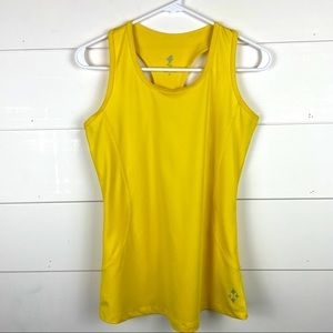 All by Jofit Yellow Athletic Workout Tank Top - M